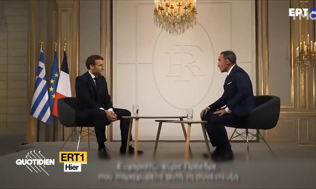 Profession président : Emmanuel Macron face à Nikos Aliagas sur la télé grecque