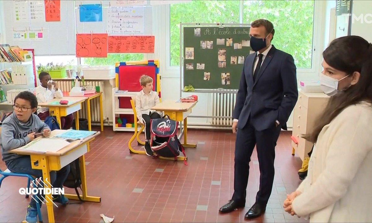 Profession président : Emmanuel Macron s'est (encore) fait malmener par des enfants