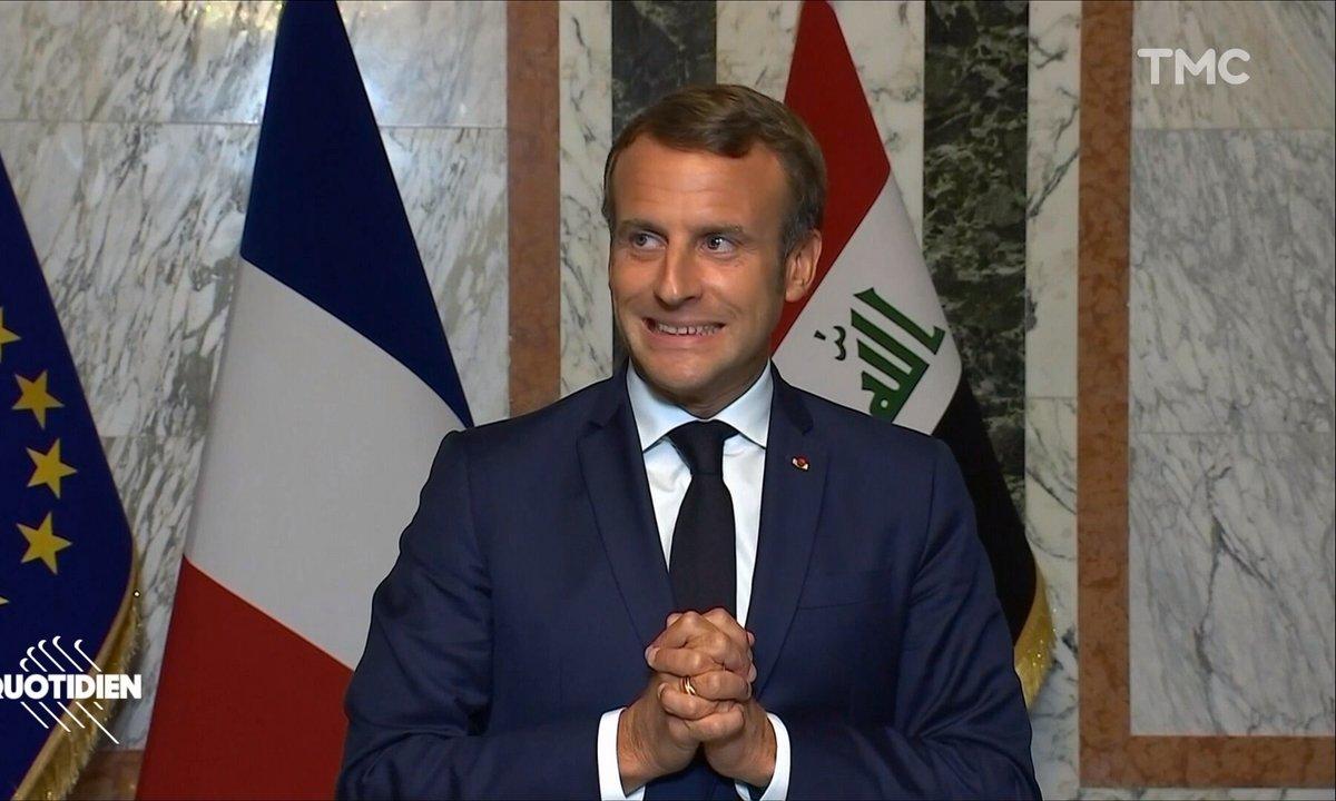 Profession président : la visite pas pratique d'Emmanuel Macron à Bagdad