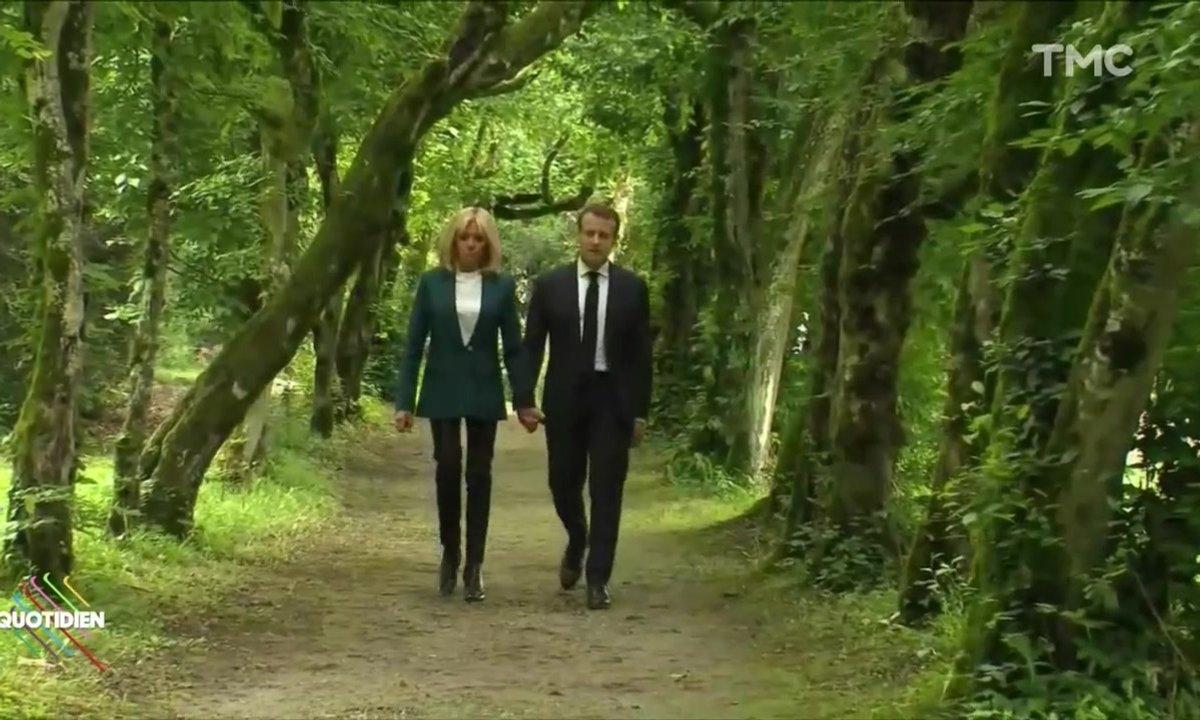 Profession Président : les Macron s'en vont au bois