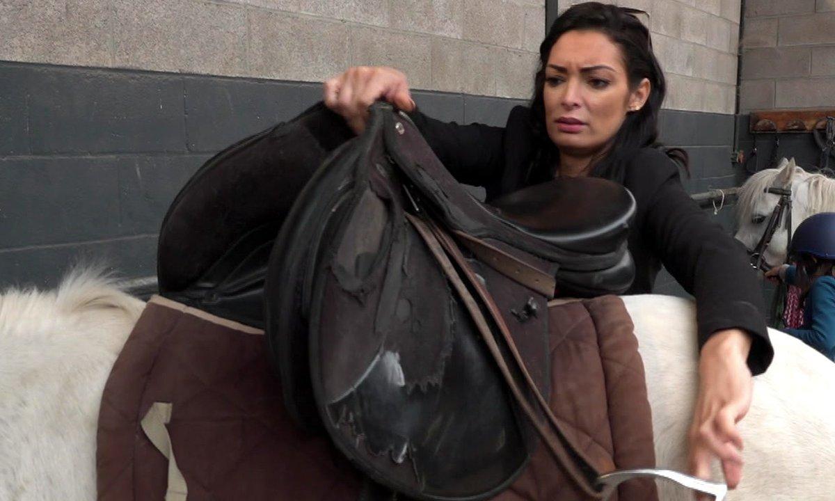 Quand Emilie tente de préparer un poney pour sa fille…