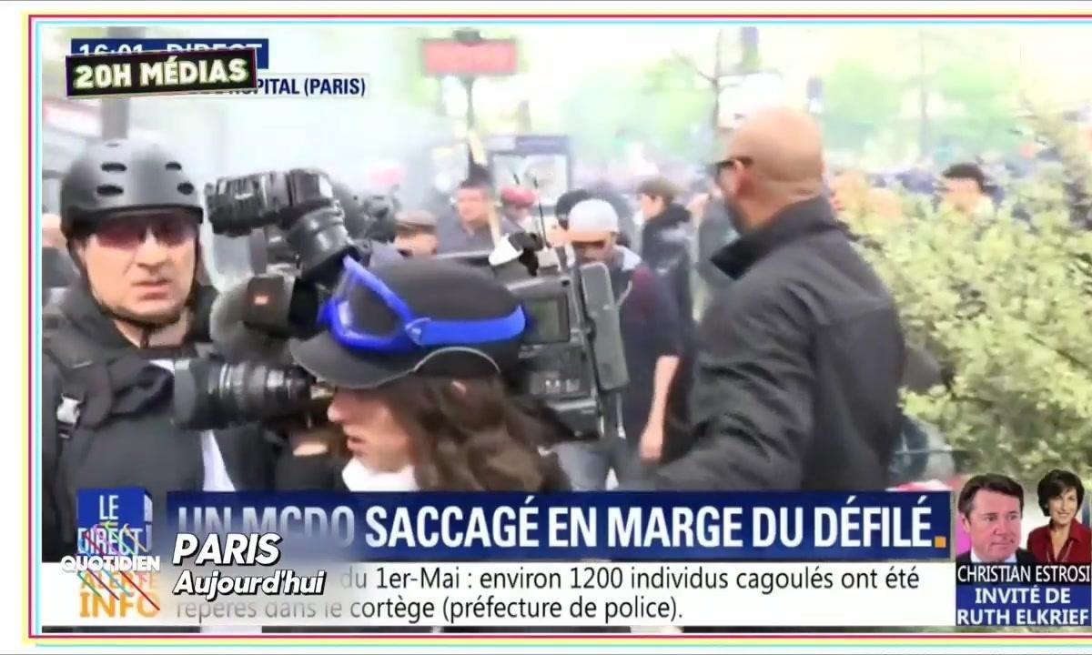 20h Médias : la presse prise pour cible dans le cortège du 1er mai