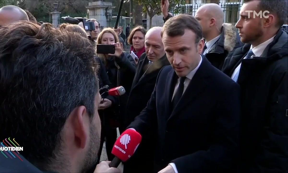 Emmanuel Macron pas fan de l'humour corse