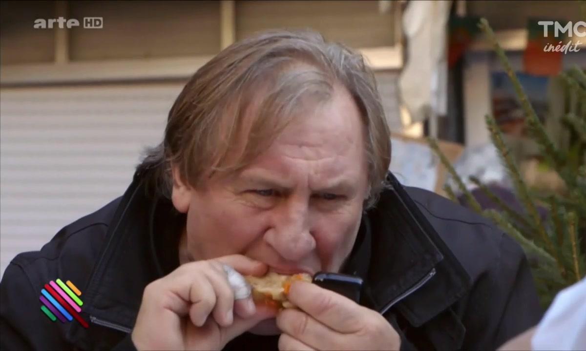 Gérard Depardieu est gourmand