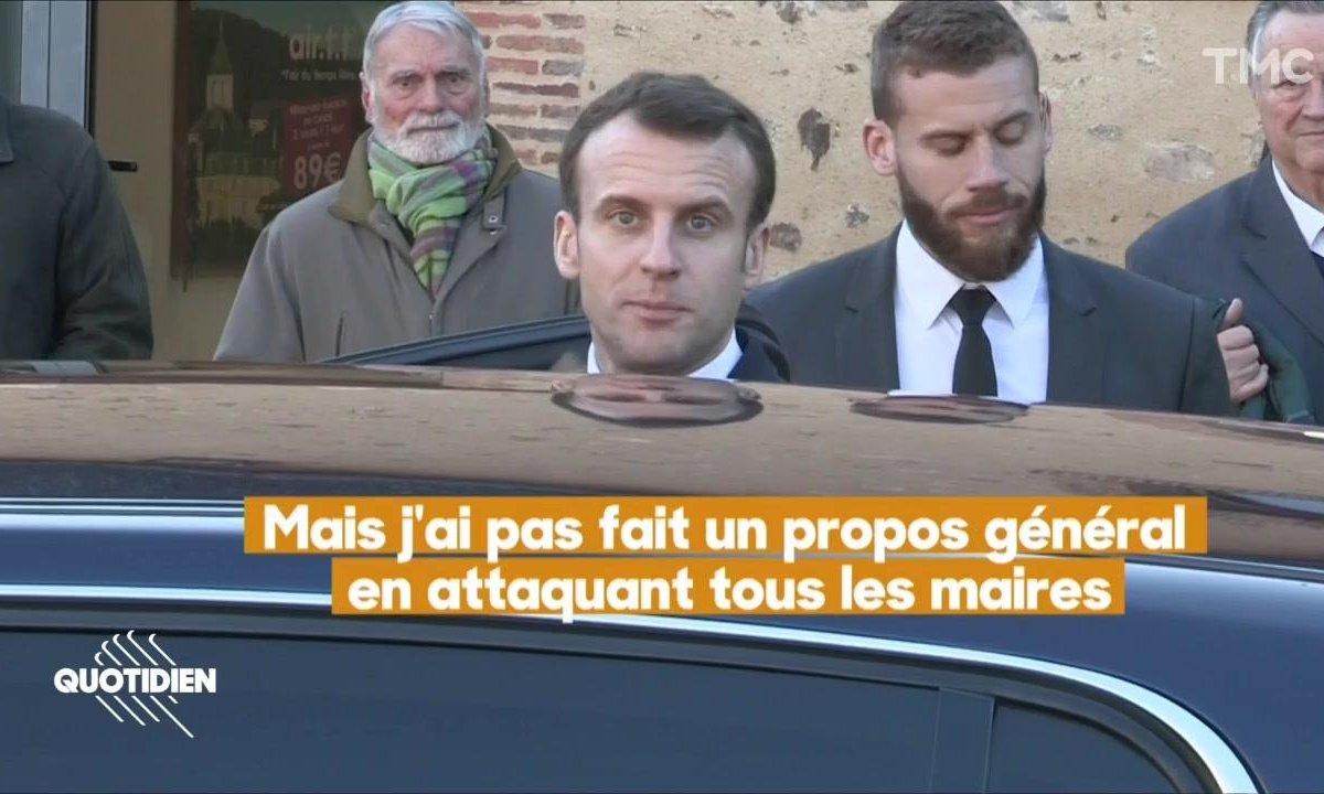 """Grand débat : Emmanuel Macron se défend d'avoir parlé de """"clientélisme"""" des maires de France"""