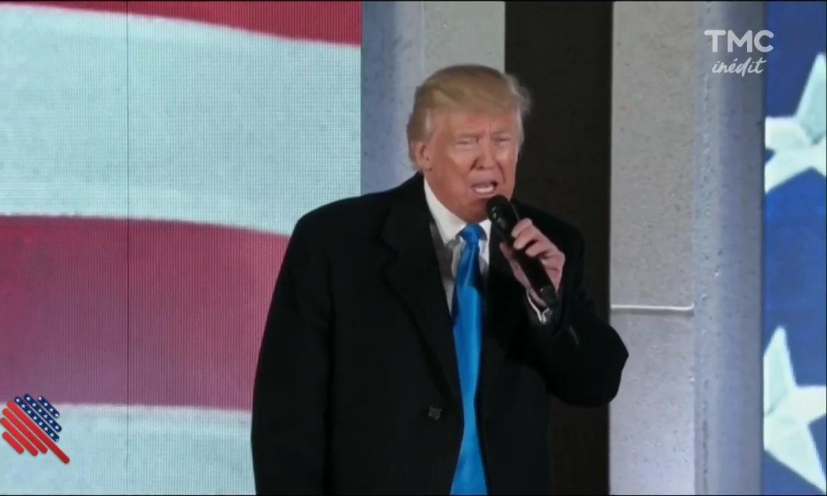 Inauguration Day : Trump a même poussé la chansonnette