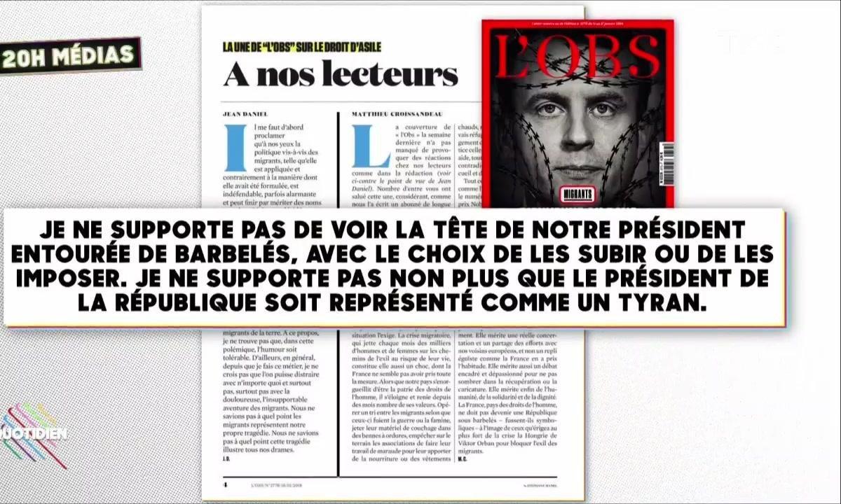 L'image du jour de Julien Bellver : Le fondateur de L'OBS déteste sa Une sur Macron et les migrants