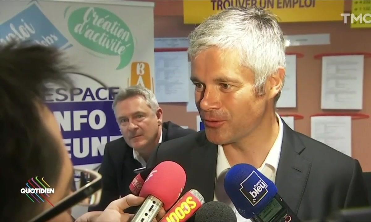 Laurent Wauquiez s'amuse avec la presse