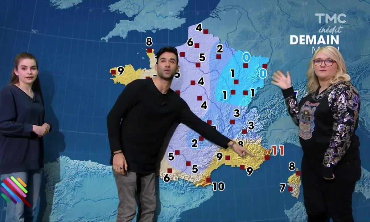 La météo du 10 mars par les youtubers Lola Dubini, Adèle Castillon et Wartek