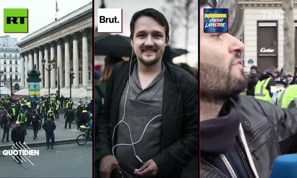 20h Médias : Brut, RT, Vincent Lapierre, les médias chouchous des gilets jaunes