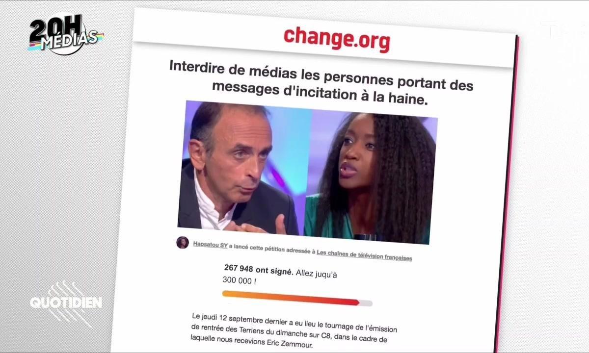 20h Médias : faut-il interdire Eric Zemmour ?