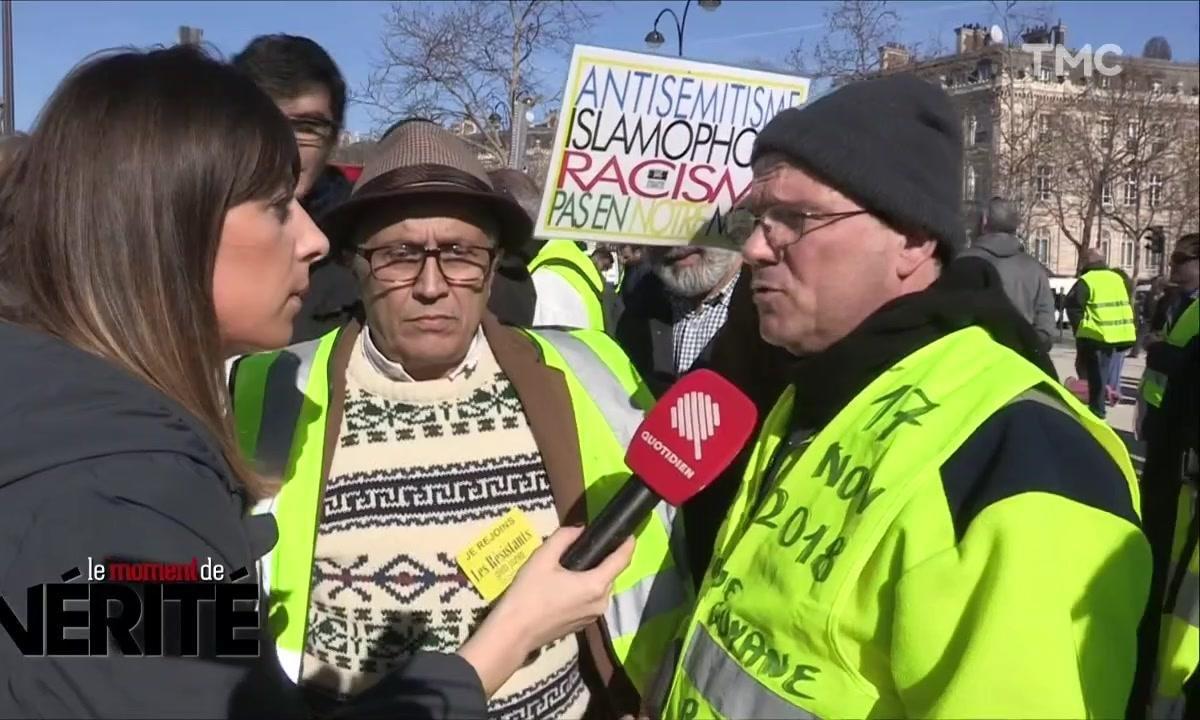 Les gilets jaunes réagissent à l'agression antisémite d'Alain Finkelkraut