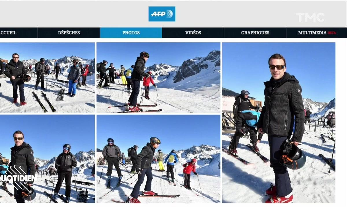 Zoom: le couple Macron au ski, attention aux vieilles images