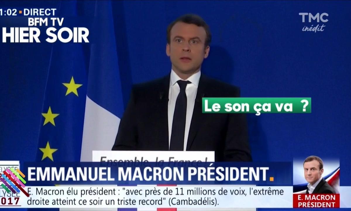 """""""On ferme le micro"""" : les ratés de la déclaration de Macron à son QG"""