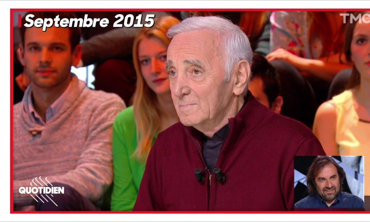 Quotidien rend hommage à Charles Aznavour
