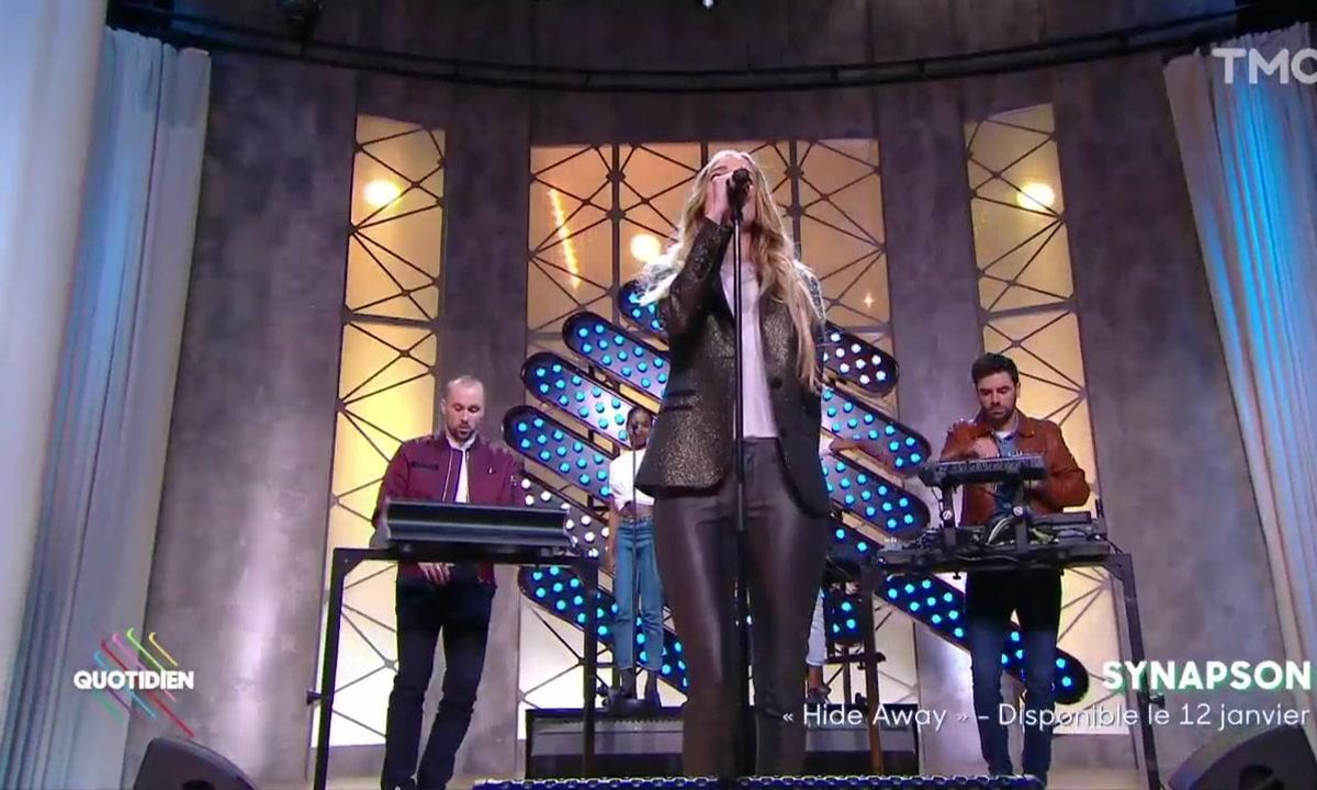 "Synapson feat Holly – ""Hide Away"" en live dans Quotidien"