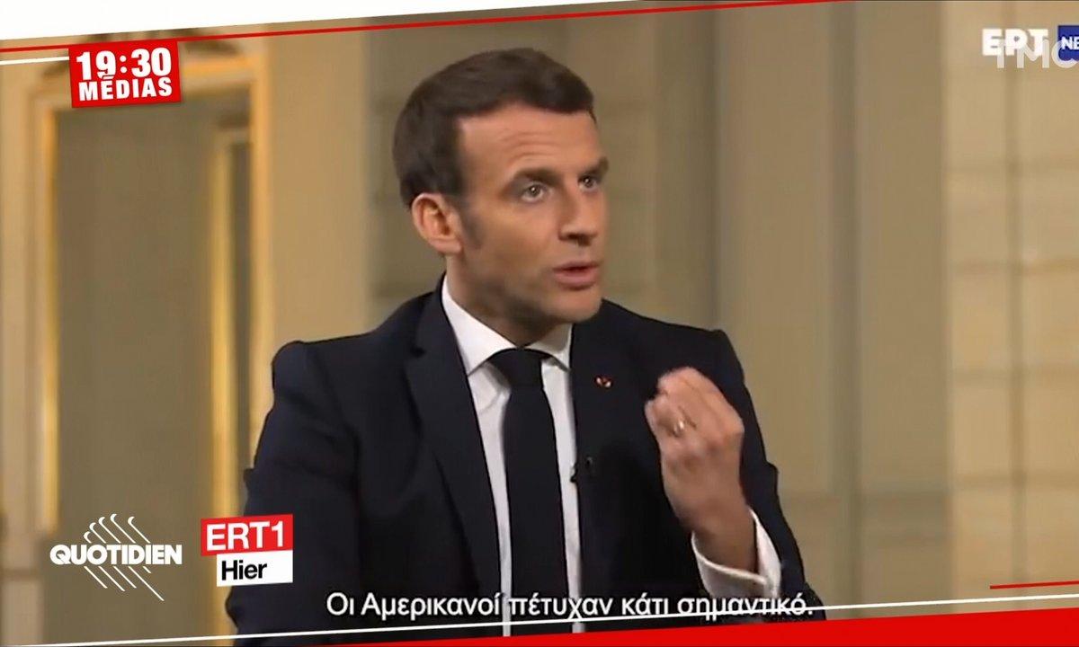 Ratés sur les vaccins : le Mea Culpa d'Emmanuel Macron à la télé grecque