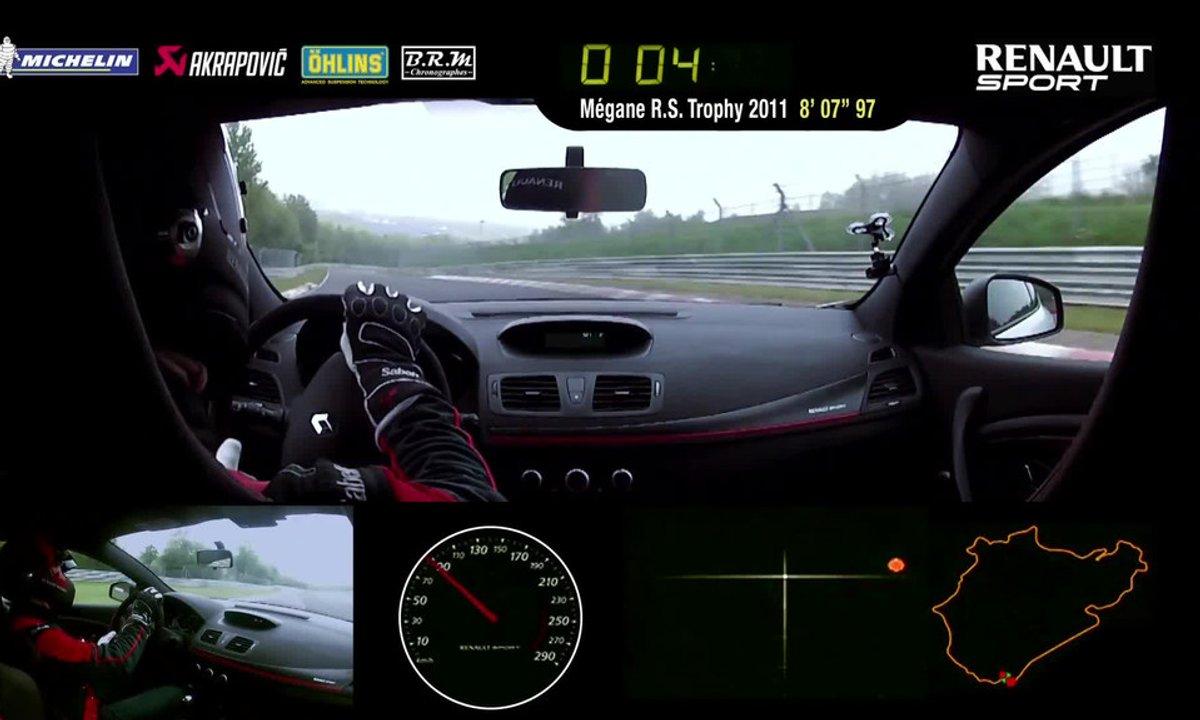 Renault Mégane R.S. 275 Trophy-R 2014 : le record du Nürburgring en intégralité