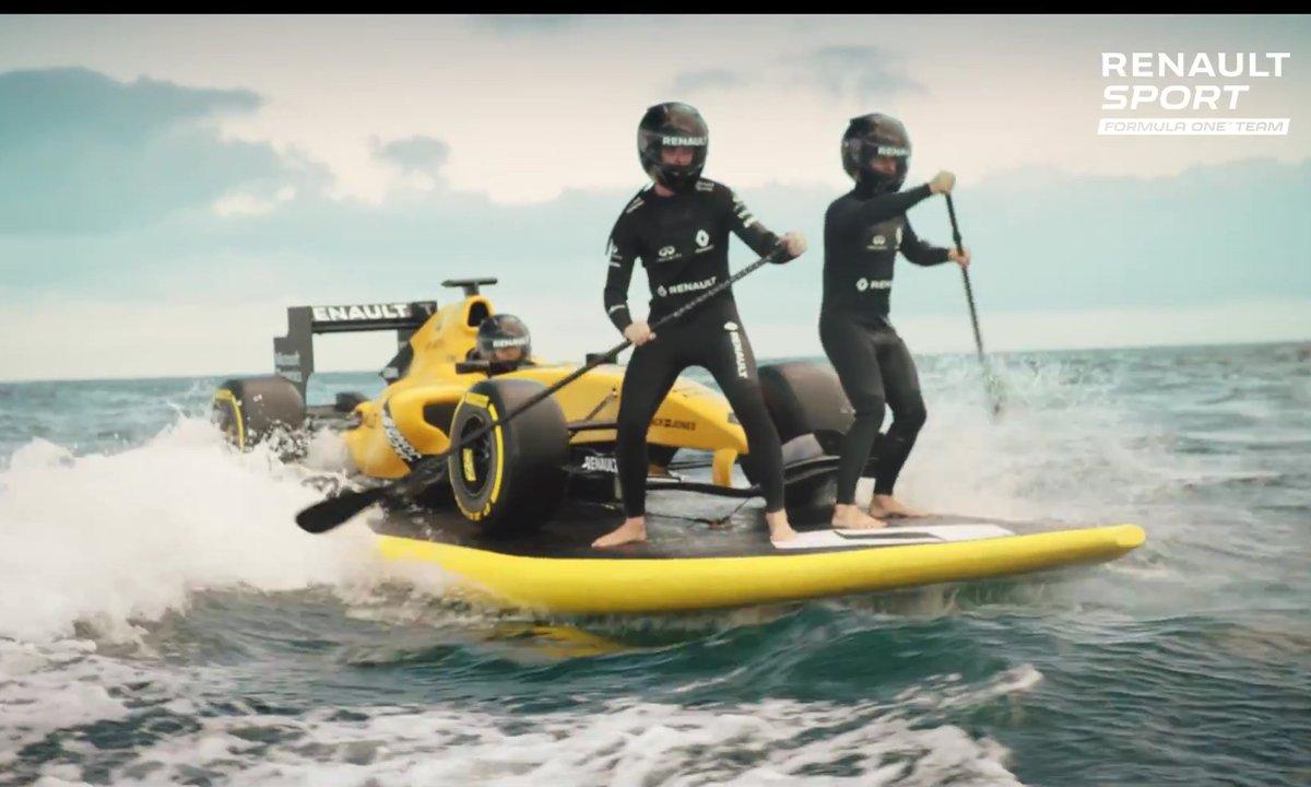 L'écurie Renault Sport F1 en mode Surf'up avant la saison 2016