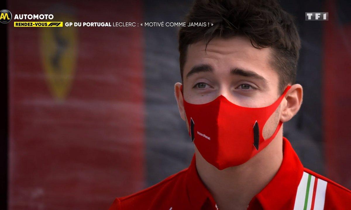 """RDV F1 - GP du Portugal, Leclerc : """"Je suis motivé comme jamais"""""""