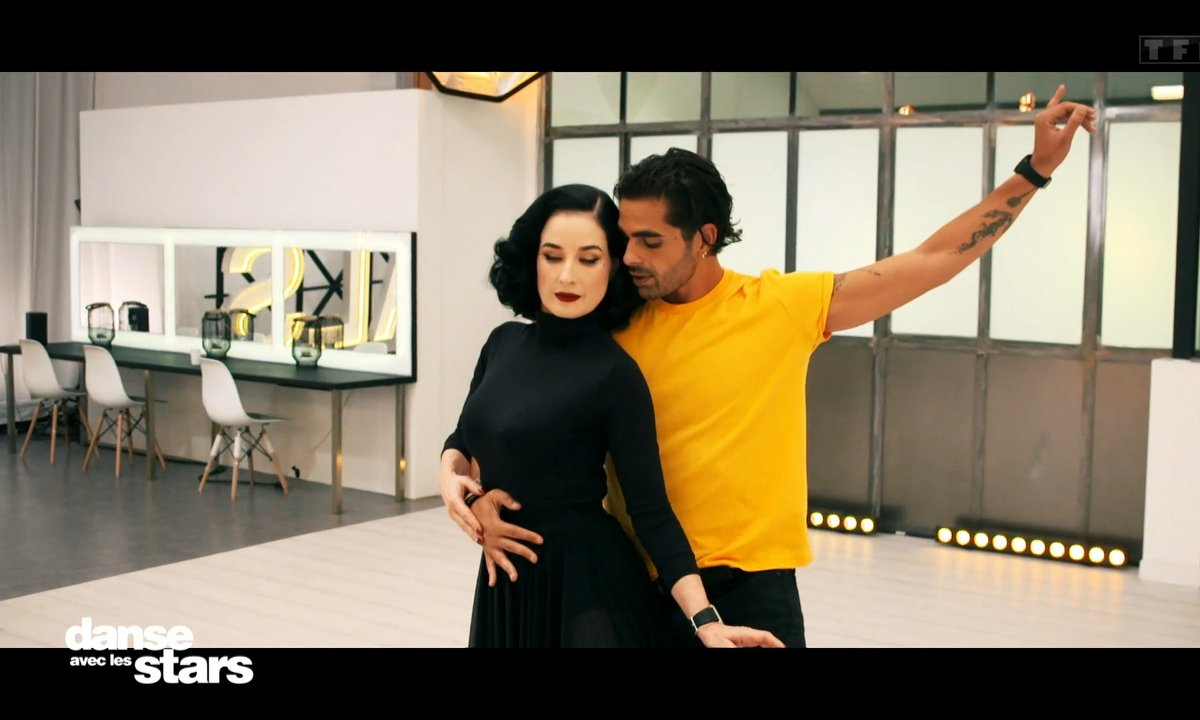DALS 2021 - Répétitions – Dita Von Teese et Christophe Licata : « Chris is in the kitchen, repeat after me… »