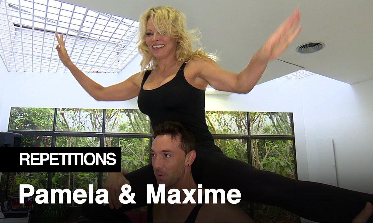 Répétitions - Pamela Anderson et Maxime Dereymez, des portés tout en souplesse !