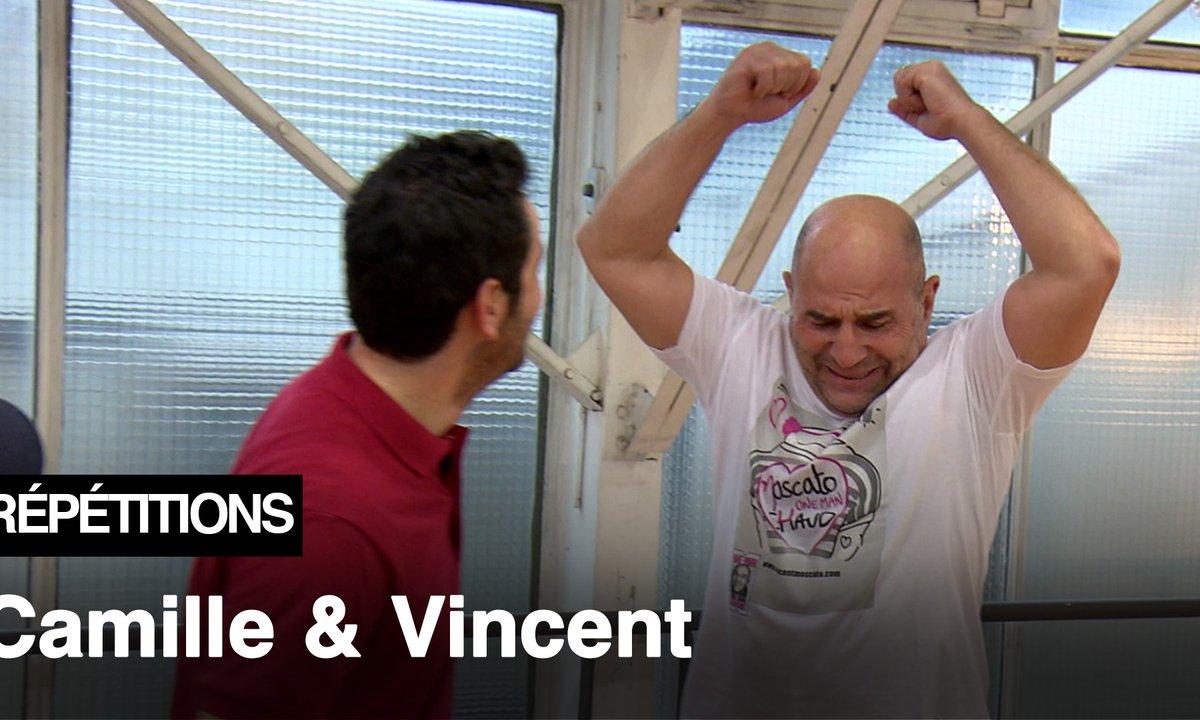 """Répétitions - """"Je veux des DIX qui pètent """" Camille Combal et Vincent Moscato"""