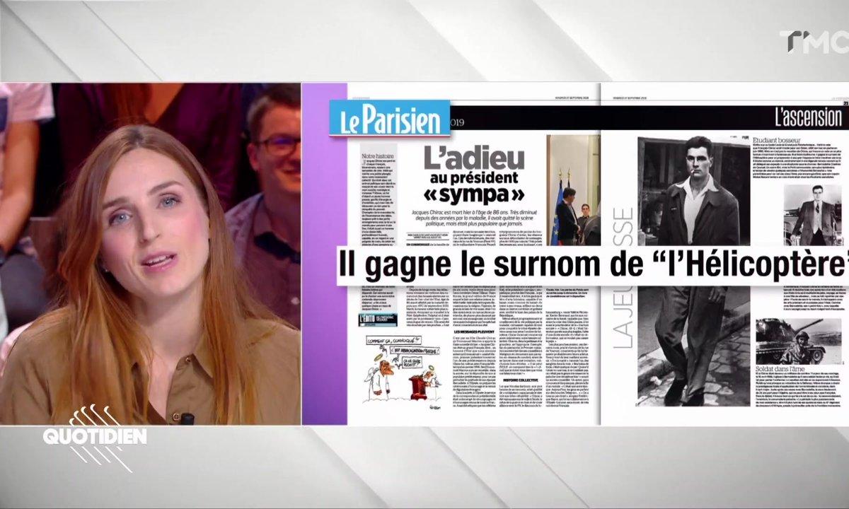 """La revue de presse d'Alison Wheeler : Corona, hélicoptère et """"Pépette"""" c'était Jacques Chirac"""