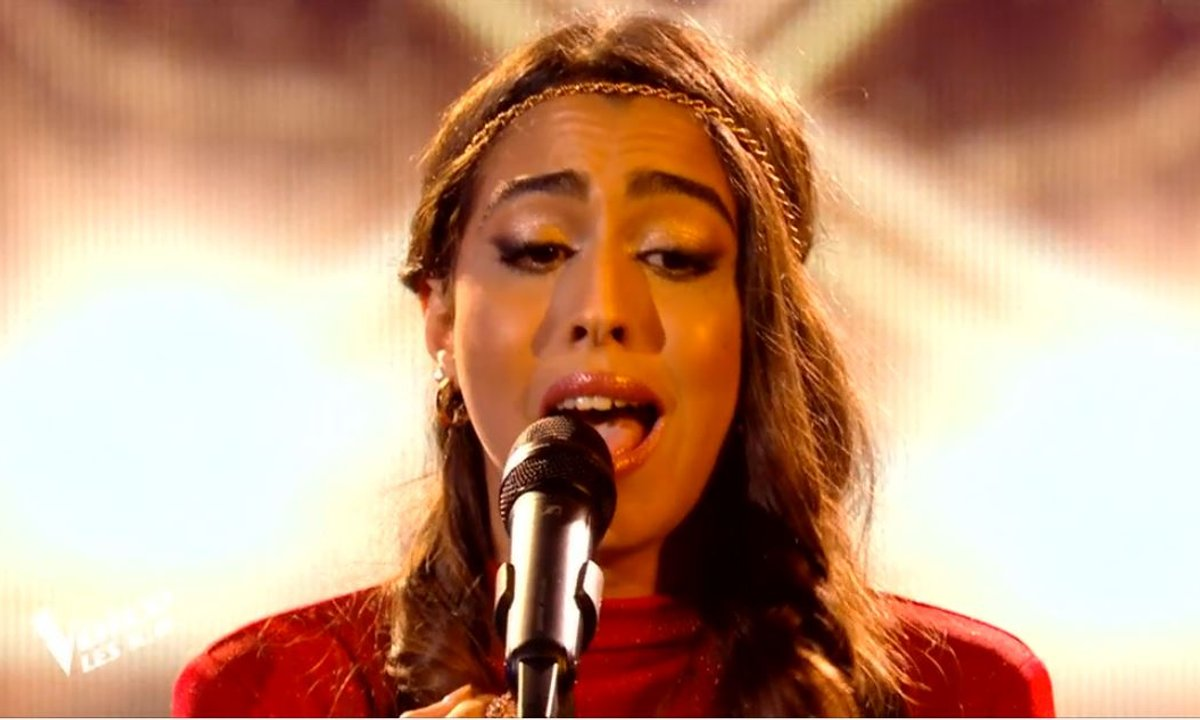 "THE VOICE 2020 - Rita chante ""Mon amie la rose"" de Françoise Hardy - Version Slimane & Lina El Arabia (KO)"