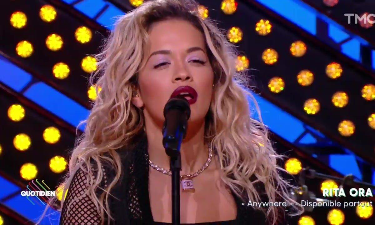 "Rita Ora – ""Anywhere"" en live dans Quotidien"
