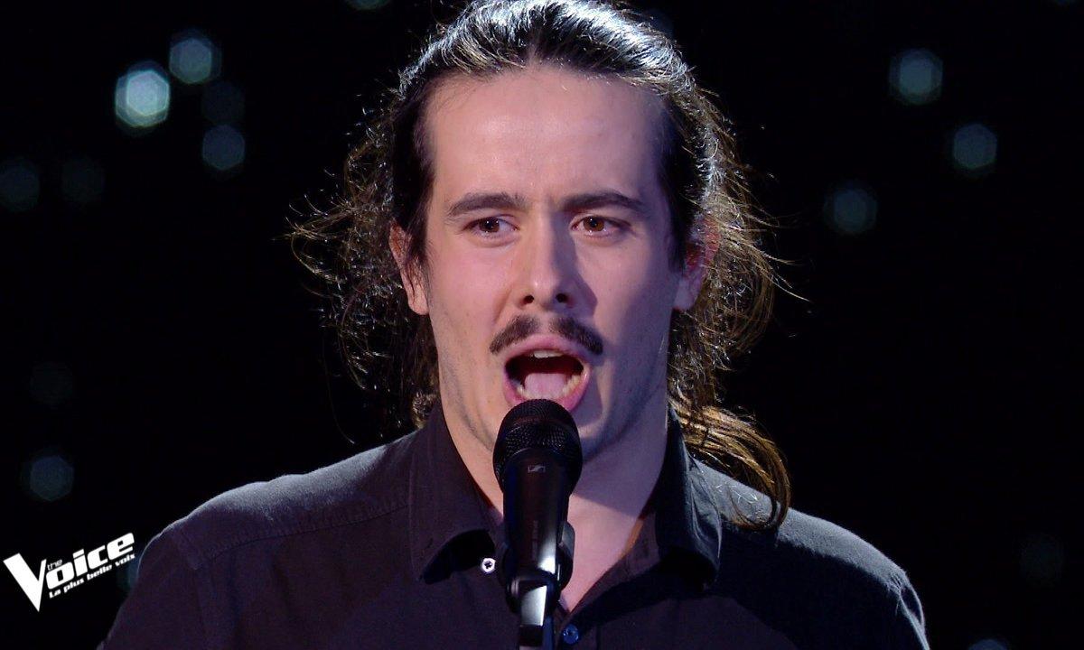 """The Voice 2021 – Robin Baron chante """"J'veux pas qu'tu t'en ailles"""" de Michel Jonasz"""