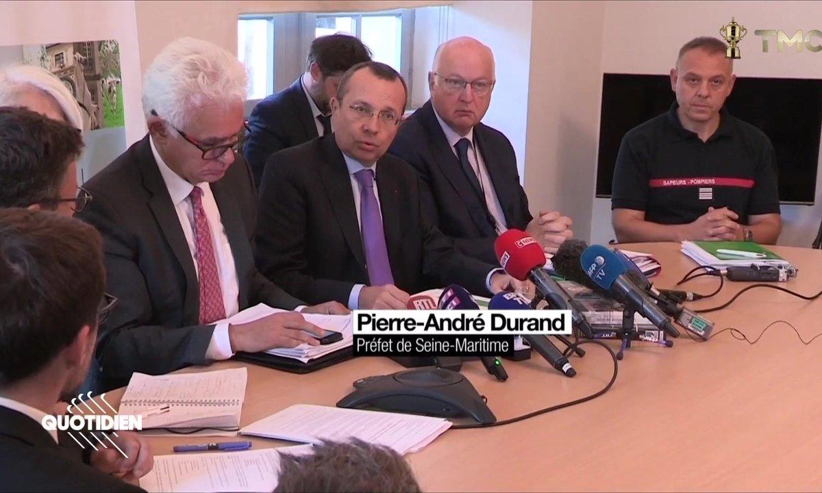 """Rouen : le préfet reconnaît un """"incendie majeur"""" mais veut rappeler qu'il n'y eu """"aucun mort, aucun blessé"""""""