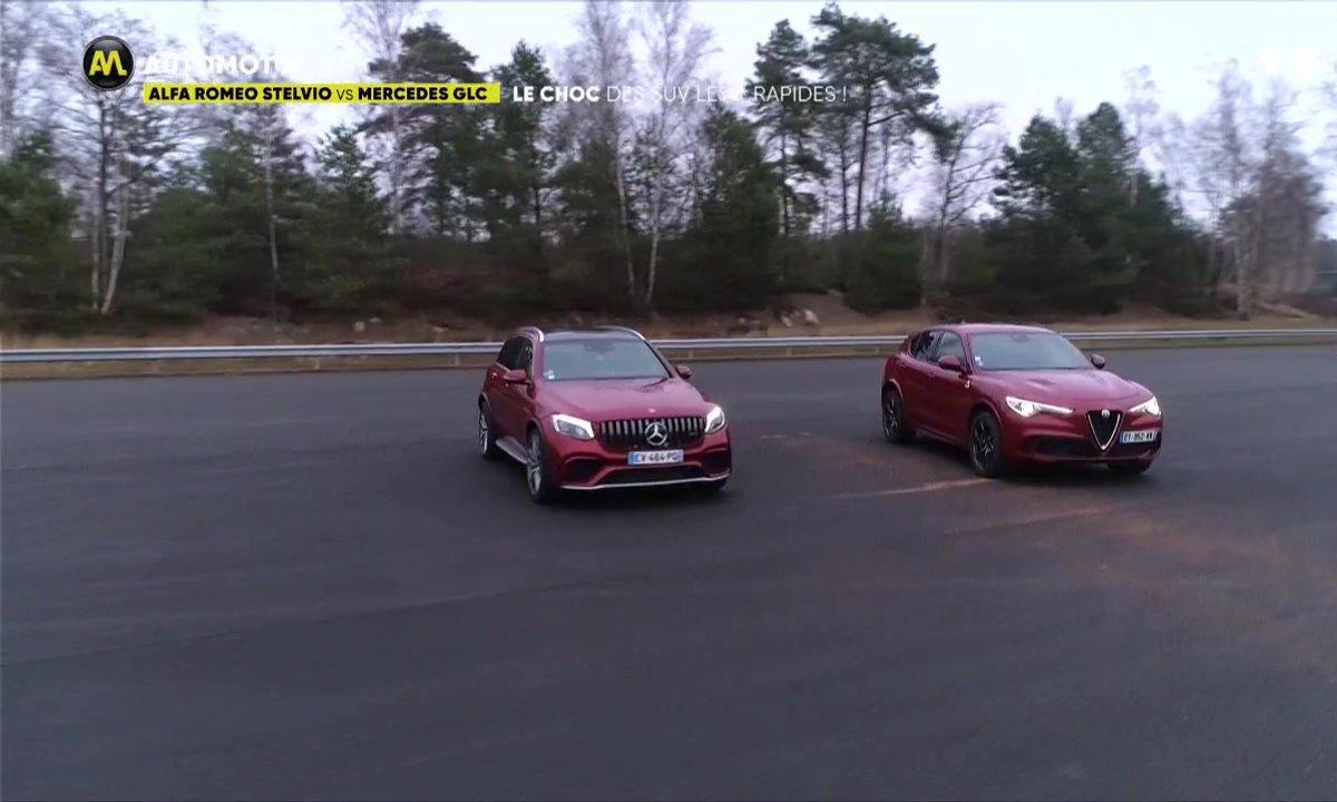 Alfa Romeo Stelvio vs Mercedes GLC, le choc des SUV les plus rapides