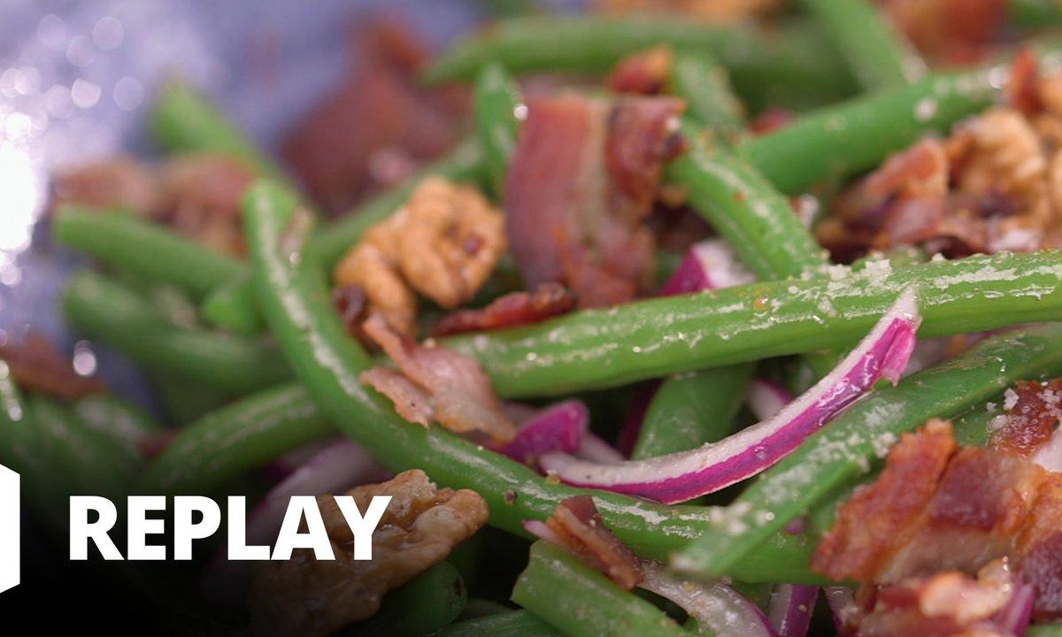 Salade de haricots verts aux noix