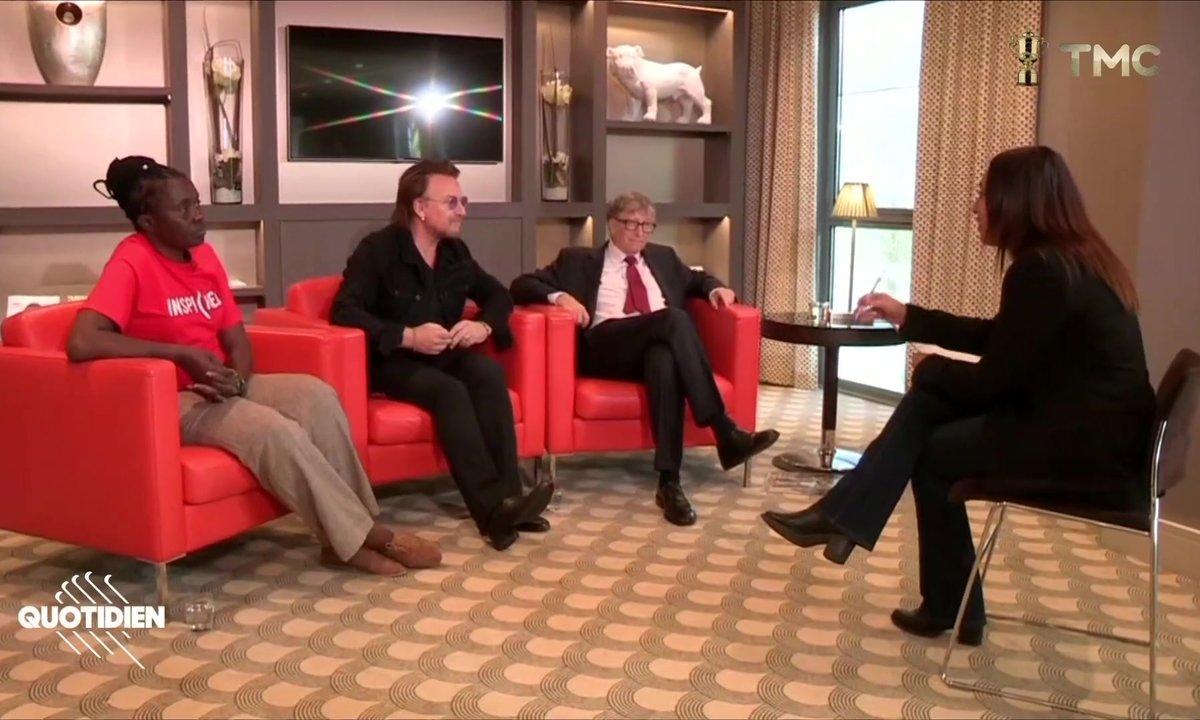 Salhia Brakhlia a rencontré Bono, Bill Gates et Connie Mudenda, engagés pour éradiquer le SIDA