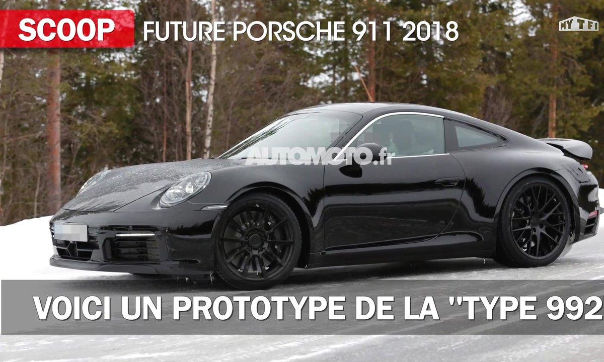 "Scoop : La future Porsche 911 ""Type 992"" de 2018 en photos et infos"