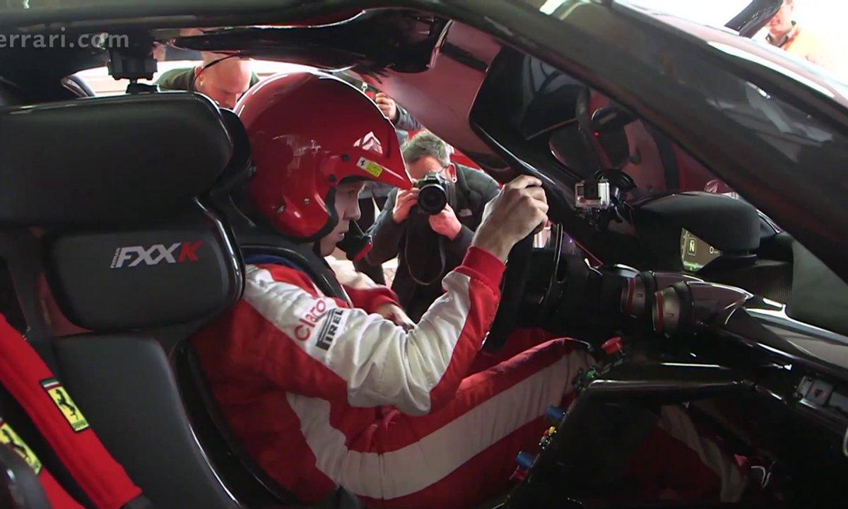 Insolite : Sebastian Vettel à bord de la Ferrari FXX K !