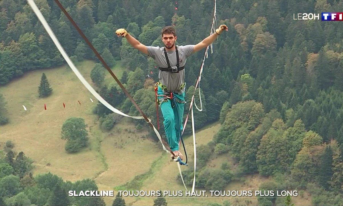 Sensation forte : une des plus longues slackline au monde installée en Auvergne