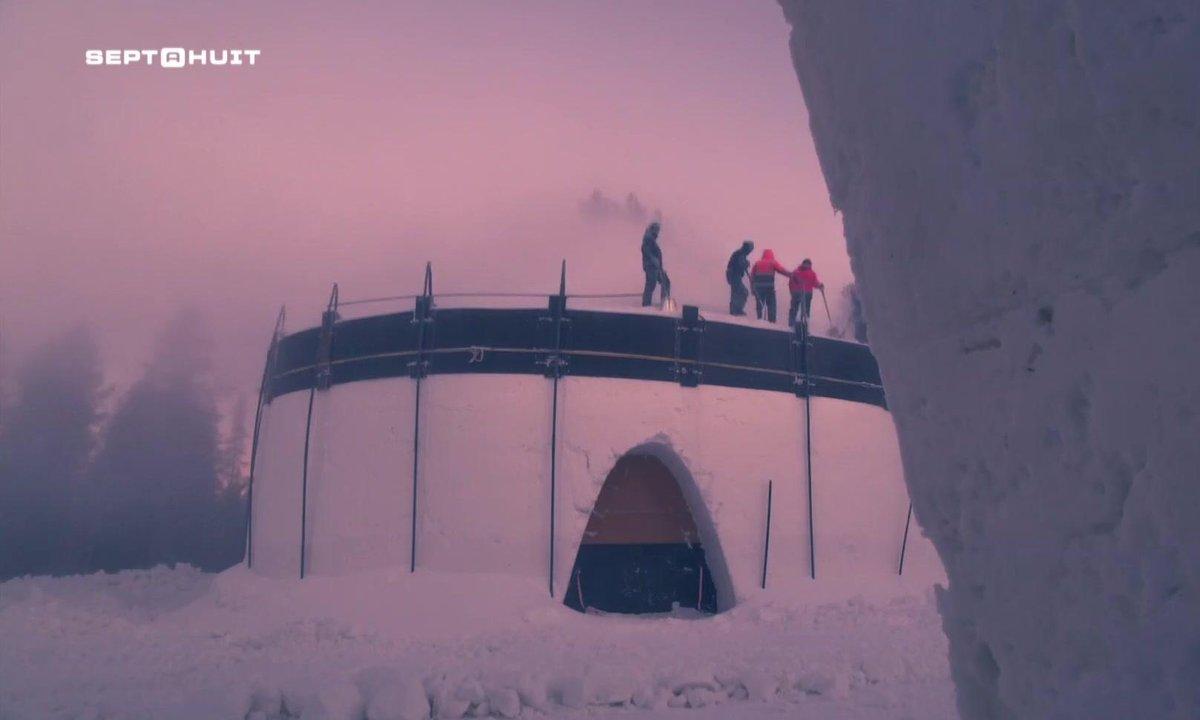SEPT À HUIT - À la découverte d'un hôtel de glace éphémère en Laponie finlandaise