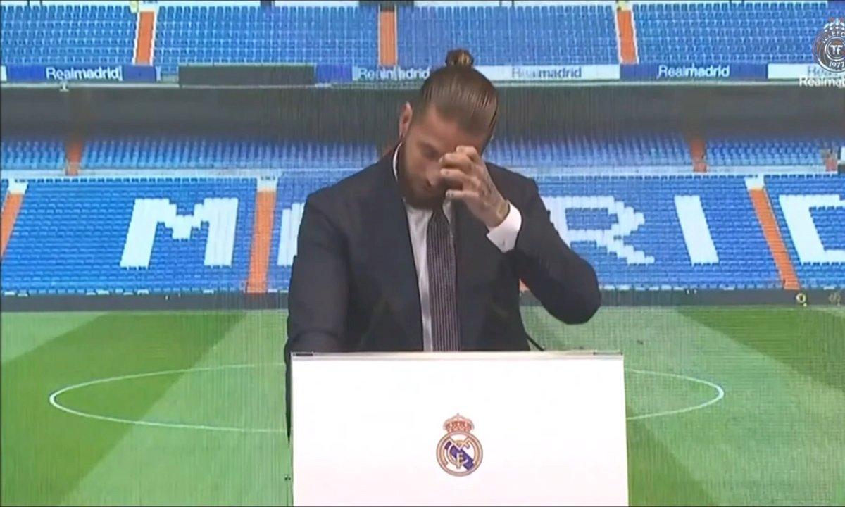 VIDEO - Sergio Ramos fond en larmes