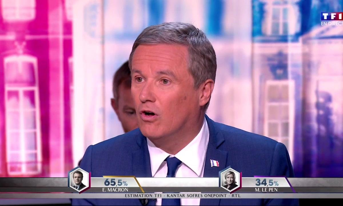 """Dupont-Aignan à propos de Macron : """"L'homme est jeune, mais sa politique est vieille"""""""