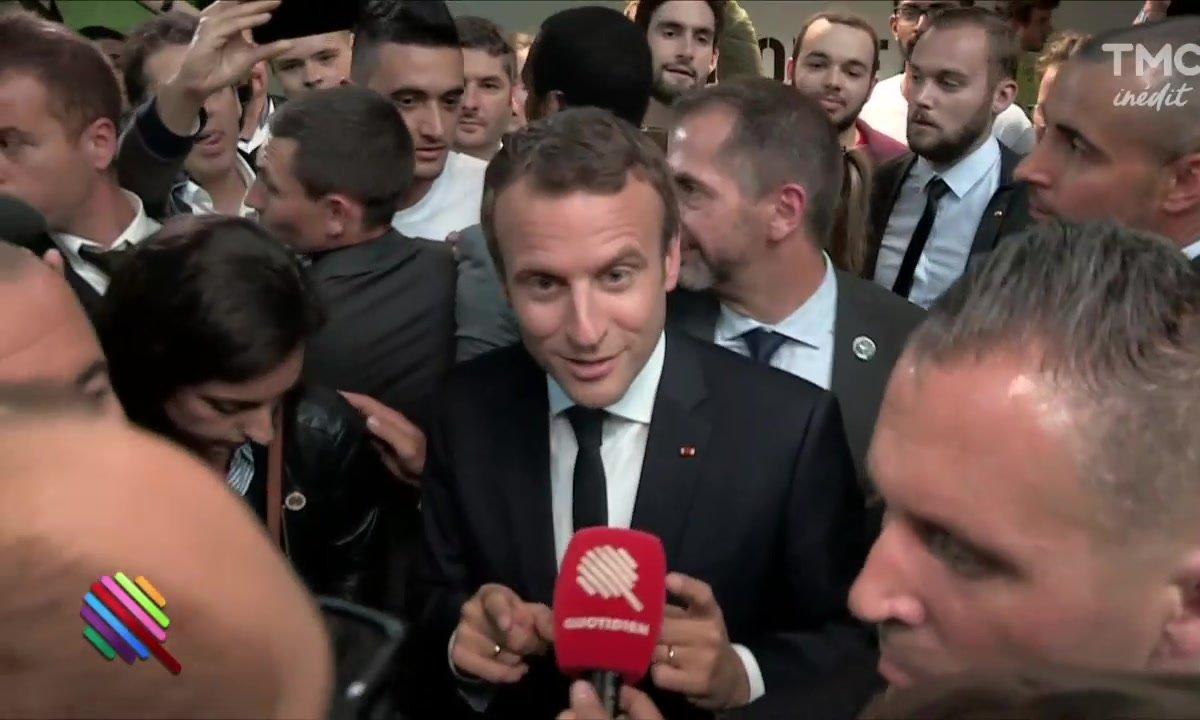 """Station F : grosse teuf en mode """"start-up nation"""" avec Macron et Xavier Niel"""