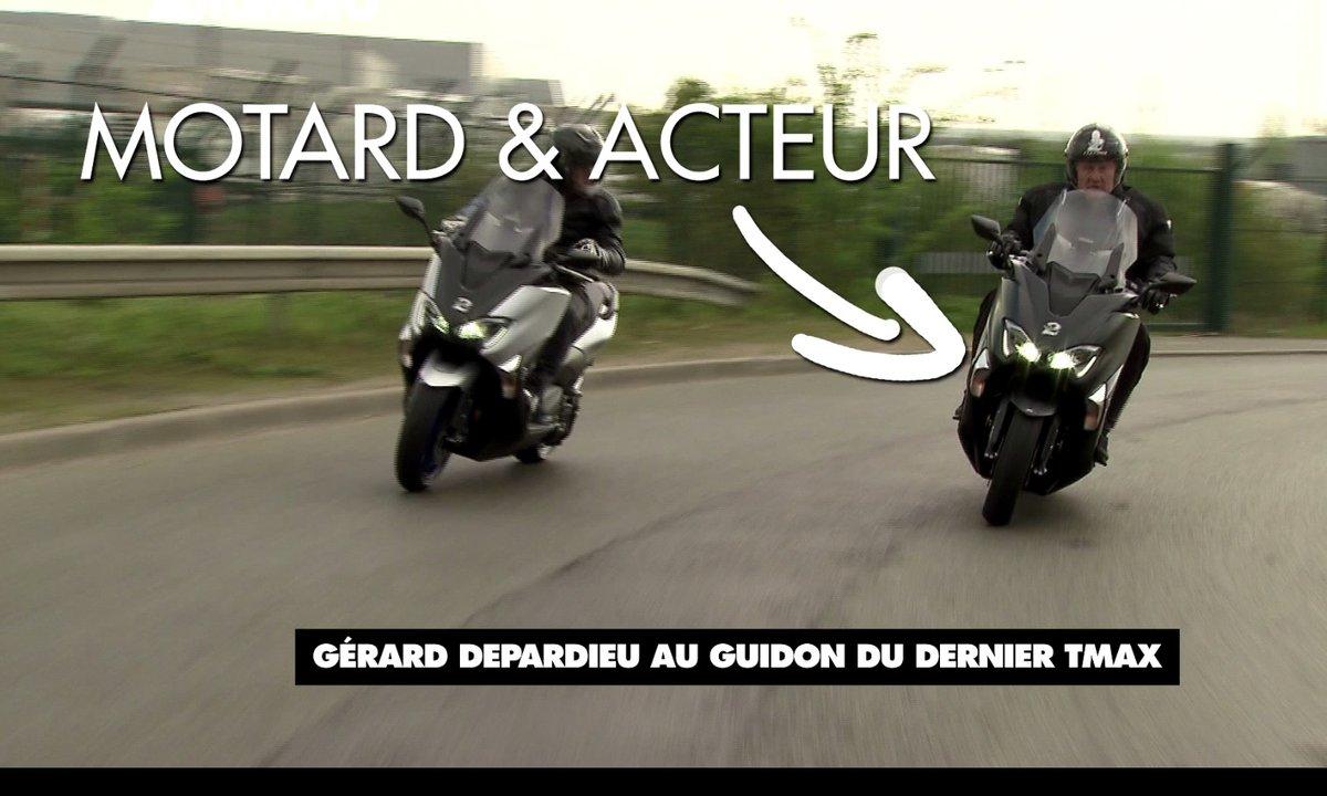 Teaser : Gérard Depardieu teste le nouveau TMAX !
