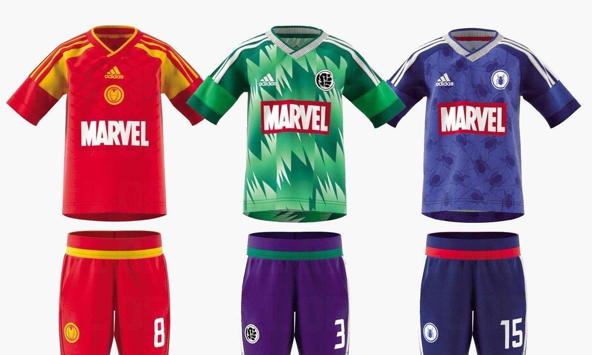 Adidas/Marvel : Les maillots des super-héros