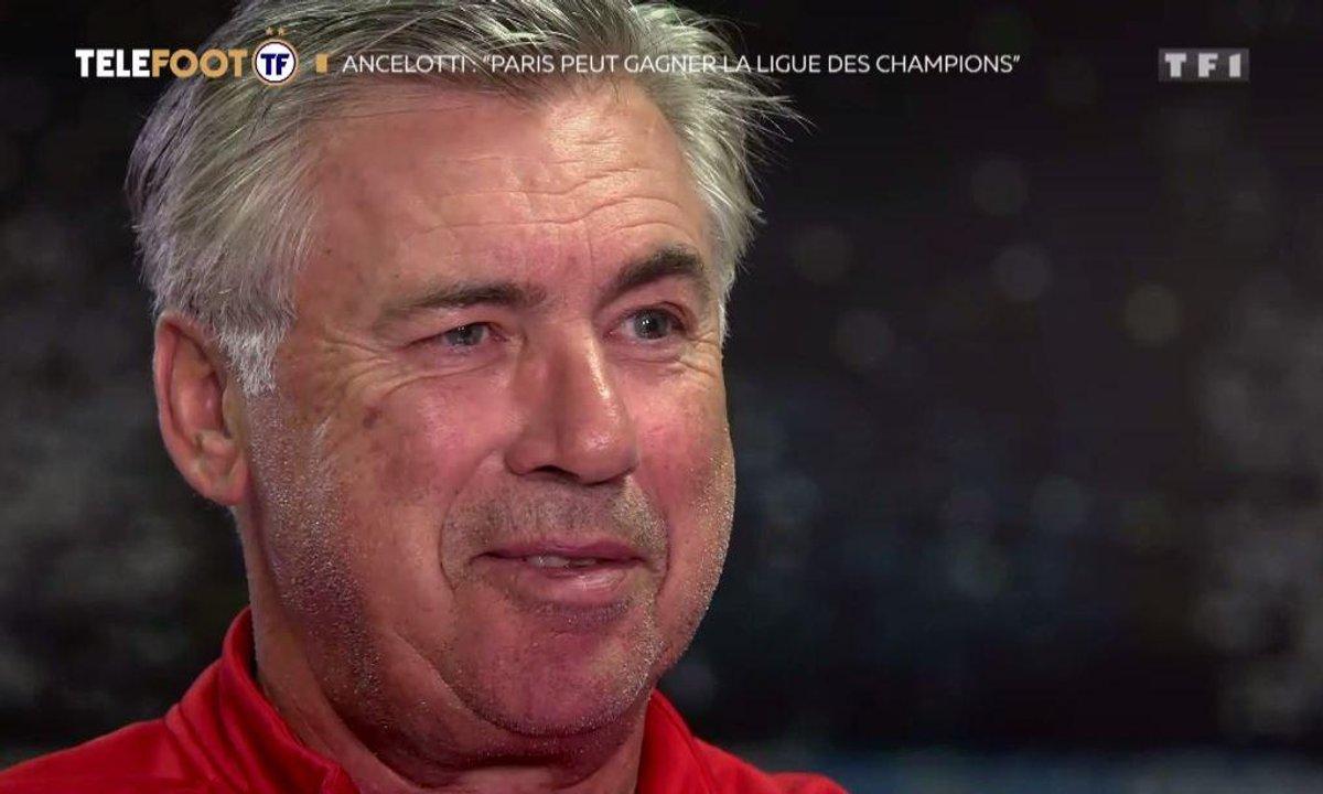 """Carlo Ancelotti: """"Paris peut gagner la Ligue des champions"""""""