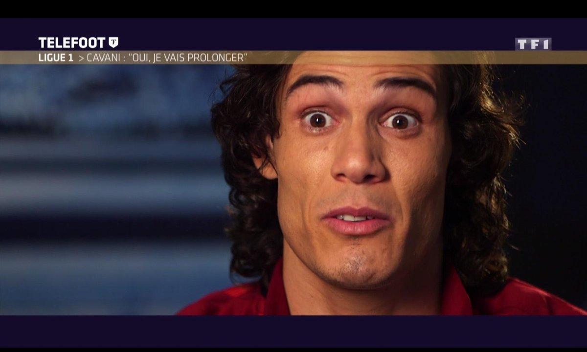 [Téléfoot 15/01] Ligue 1 : Cavani : « Je veux rester à Paris »