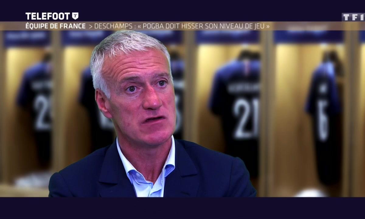 """Equipe de France - Didier Deschamps : """"Pogba doit hausser son niveau de jeu"""""""