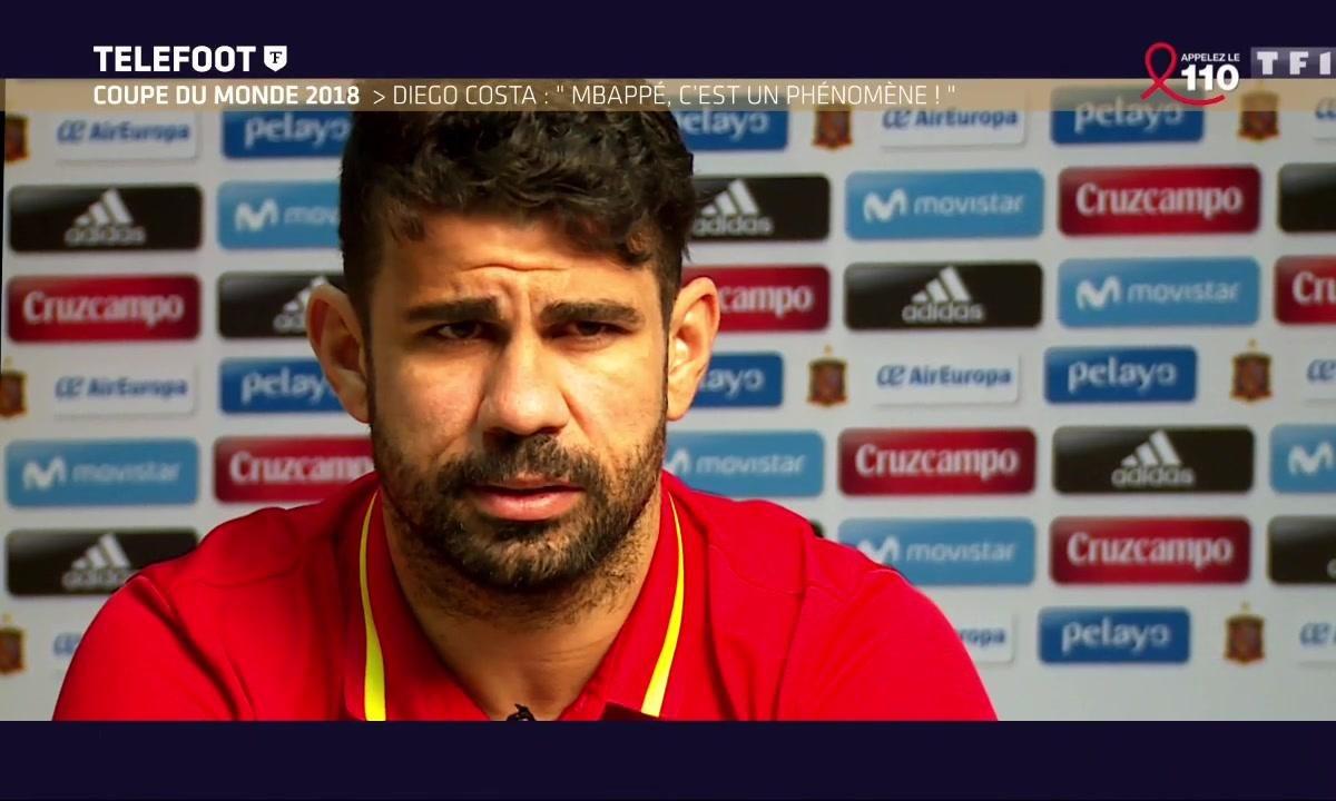 Coupe du monde 2018 : Diego Costa : « Mbappé, c'est un phénomène ! »