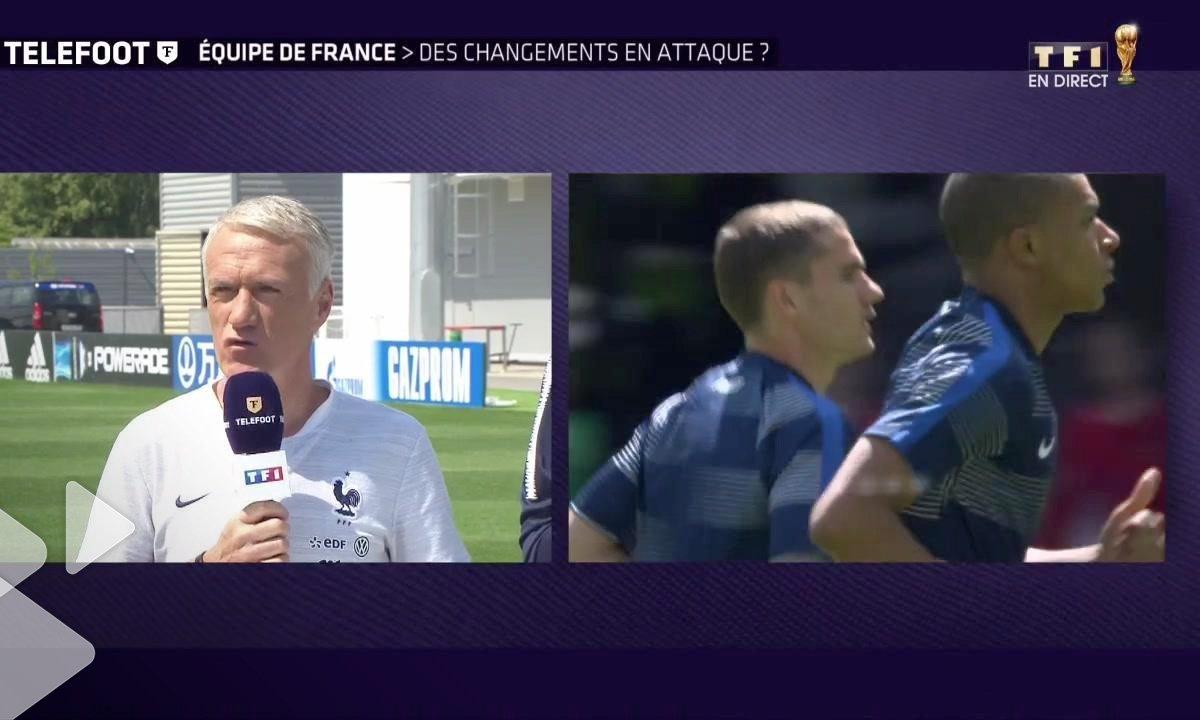 """Equipe de France  - Deschamps : """"Antoine Griezmann est notre leader d'attaque et ça le restera"""""""