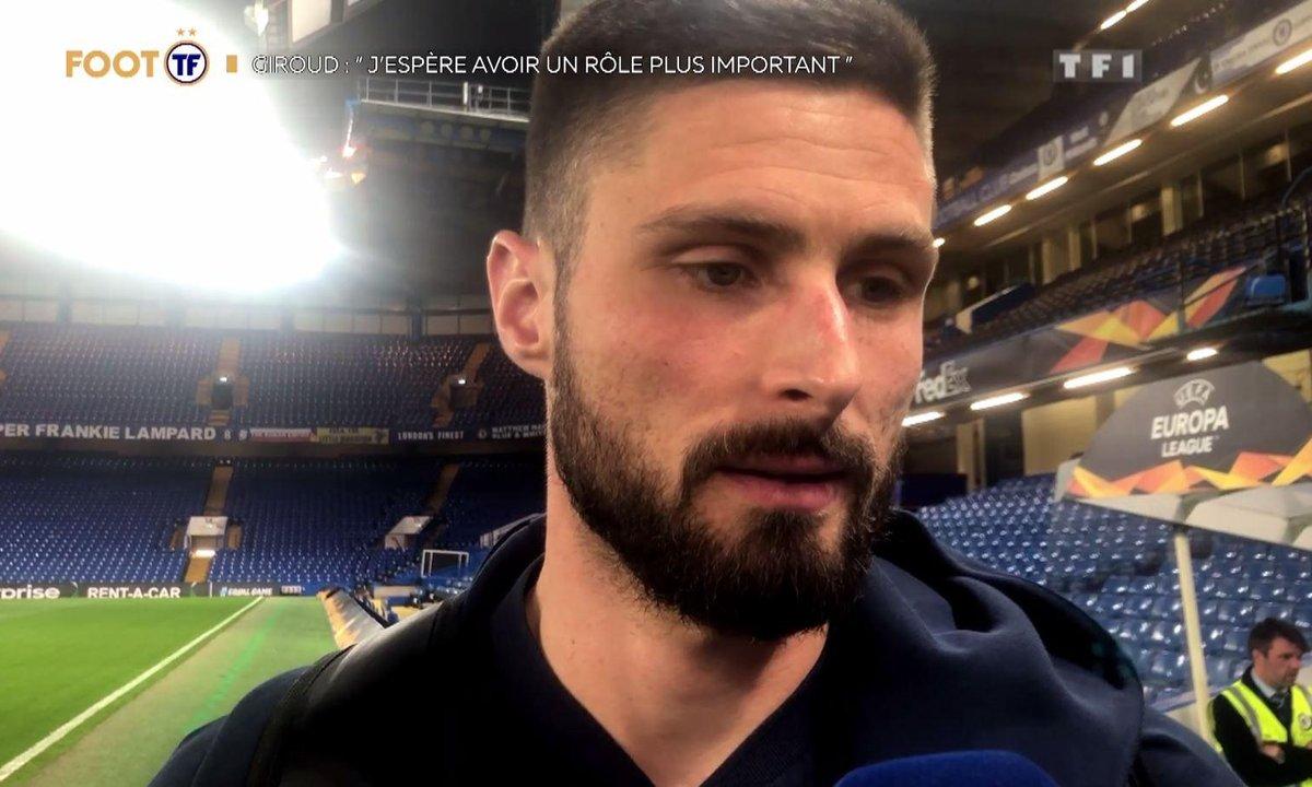 """EXCLU Giroud : """"J'espère avoir un rôle plus important"""""""